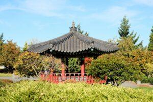 Korean style pagoda at Daejeon Park
