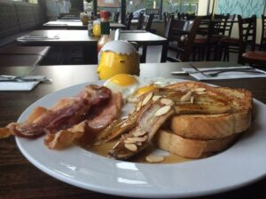 Cheeky Cafe's Almond French Toast